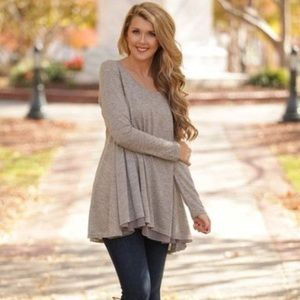 UMGEE | long sleeve flowy tunic blouse